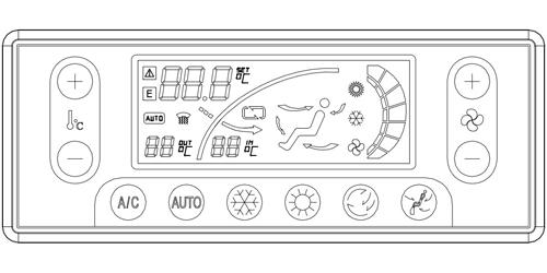 me-501型全自动空调控制器主要用于工程车